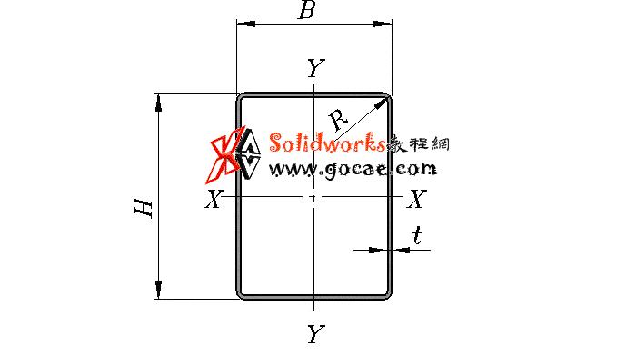 solidworks 标准件 #77 冷弯空心型钢/矩形管 GB╱T 6728 2017 外形尺寸 solidworks 3D模型 三维零件库 最新标准查询