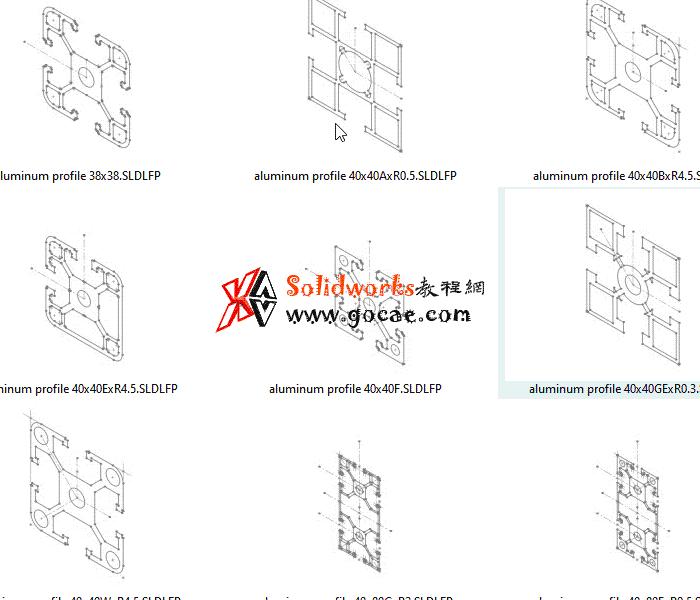 solidworks 标准件 #86 欧标 国标 方矩铝型材  焊件轮廓 外形尺寸 solidworks 3D模型 三维零件库 Sw_Library零件库 最新标准查询