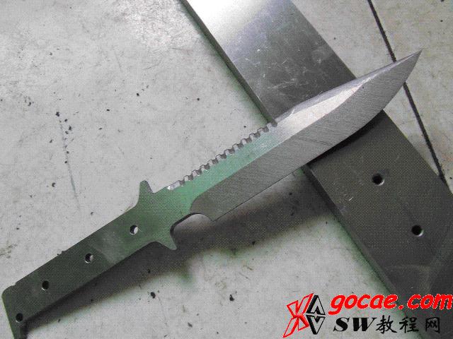 用立式加工中心DIY加工匕首全过程
