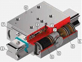 数控机床用液压、气动双面夹紧导轨夹钳