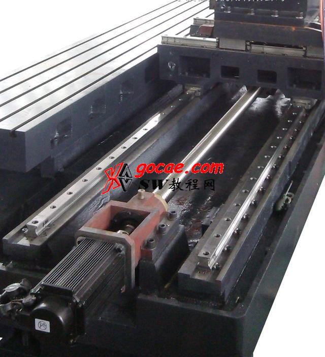 数控动柱式龙门加工中心双轴同步控制方法