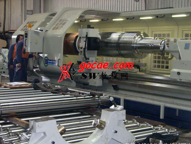 用于加工长径比1:25的细长轴精密数控车床专机 结构原理介绍