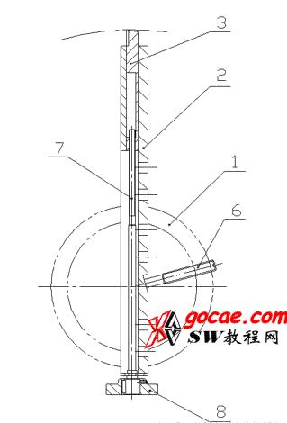 机械360mm—950mm 大孔尺寸的镗削刮面镗刀装置设计
