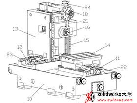 动柱式卧式加工中心结构设计