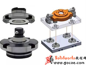 可广泛应用的:油缸推动型自定心柔性定位夹具