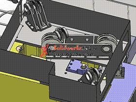 落地式镗铣床主轴箱的液压平衡机构