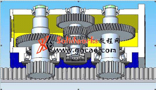 CNC大型机床双齿轮消隙齿轮箱 传动结构介绍