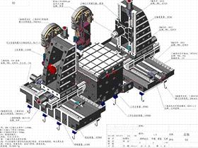 CNC机床大型工件加工辅助床身设计