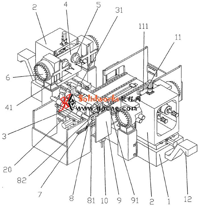 对头式双主轴卧式加工中心结构特点