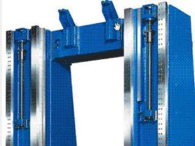 大型动梁龙门 横梁液压夹紧装置