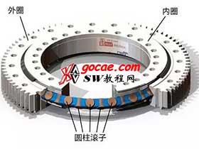 大型回转支承轴承滚子装配方法 具有通孔和塞子的回转轴承
