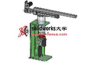 Solidworks工程图 #21 视频教程: 冲压机械手 零件和装配图出图。