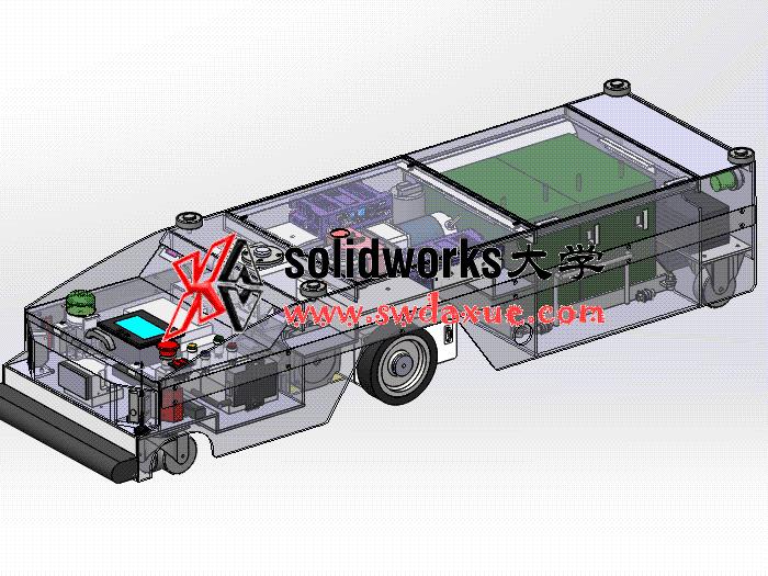 solidworks 工程图视频教程: AGV小车的几个零件和装配图的出图。