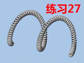 每日一练:#27  solidworks中如何画出螺旋的电话线,扫描建模画法