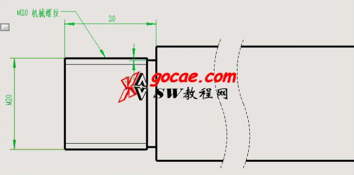 每日一练:#36 在solidworks中 轴上大于M64的外螺纹如何画?