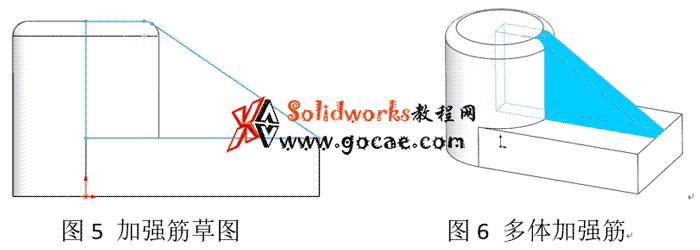 铸件中,SolidWorks做加强筋的做法