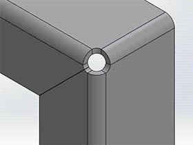 solidworks 2018新增功能: 三个折弯边角释放槽 手提箱边角