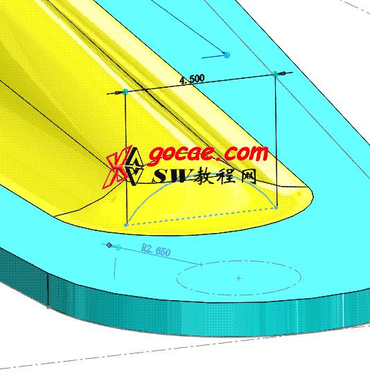 Solidworks入门教程:EB069 钣金-教程#11-冲压加强槽-自定义外形的角撑板如何画-视频教程