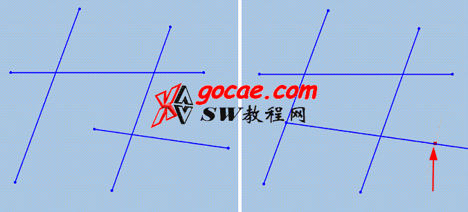 Solidworks草图中的强劲剪裁的使用方法介绍