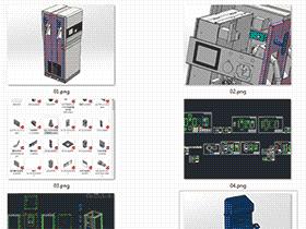 3套充电桩图纸 直流充电桩 solidworks三维模型 3D图纸 autocad 新能源充电桩数模