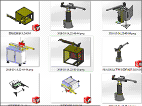 5套冲压机械手 solidworks三维模型 3D图纸