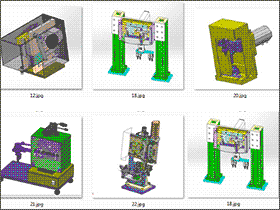 5套凸轮机械手 solidworks三维模型 3D图纸