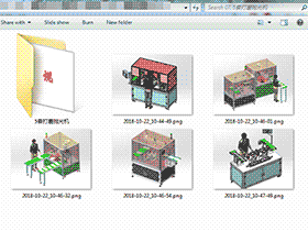 5套打磨抛光机 solidworks三维模型 3D图纸