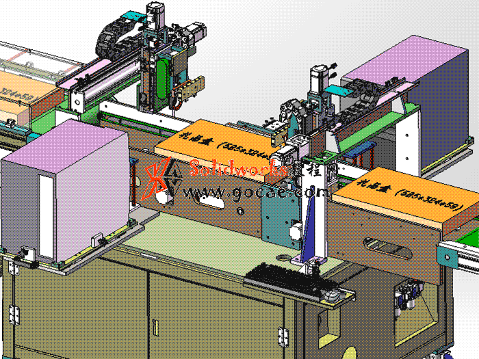 5套贴标机 solidworks三维模型 3D图纸
