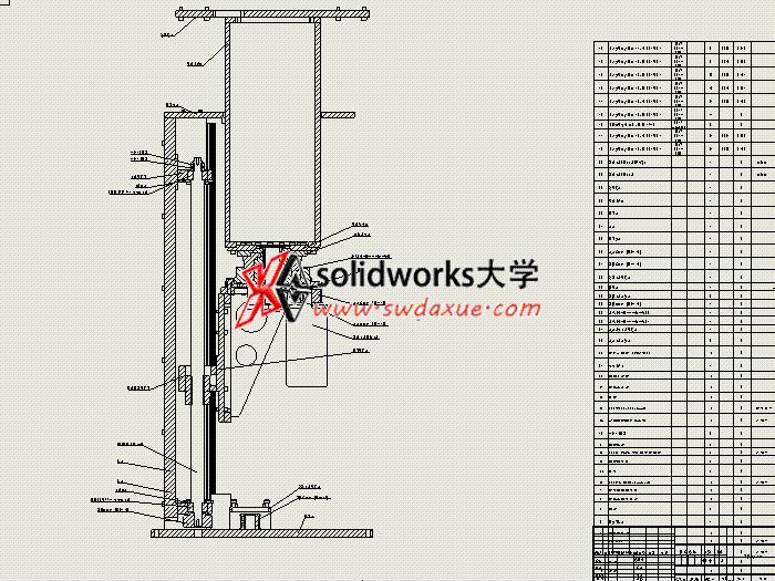 solidworks 工程图视频教程: 冲压机械手 零件和装配图出图。